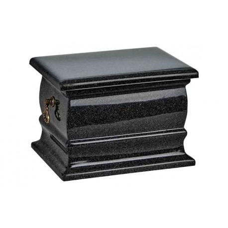 Black Granite Composite Casket Shape Funeral Cremation Ashes Urn for Adult (516)