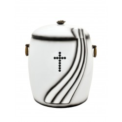 Catholic Composite Funeral Cremation Ashes Urn with Swarovski Crystals for Adult (904)