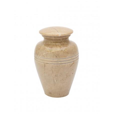 Mini Keepsake Botticino Marble Stone Funeral Cremation Ashes Urn (819)