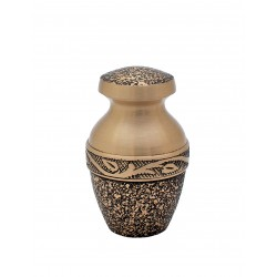 Mini Keepsake Brass Funeral Cremation Ashes Urn (813)
