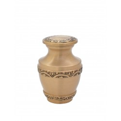Mini Keepsake Brass Funeral Cremation Ashes Urn (812)