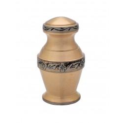 Mini Keepsake Brass Funeral Cremation Ashes Urn (809)