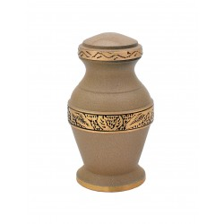 Mini Keepsake Brass Funeral Cremation Ashes Urn (807)