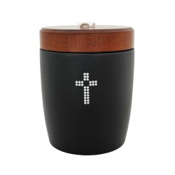 Catholic Ceramic Funeral Cremation Ashes Urn with Swarovski Crystals for Adult (905)