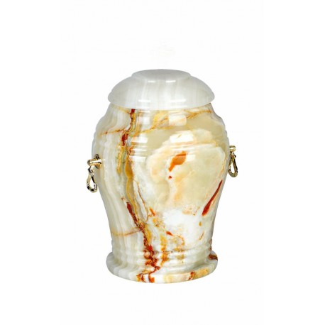 Stone White Onyx Funeral Cremation Ashes Urn for Adult (108)