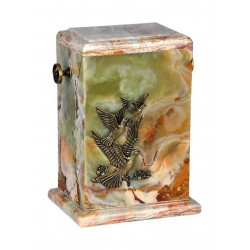 Stone Medium Green Onyx Funeral Cremation Ashes Urn for Adult (123)