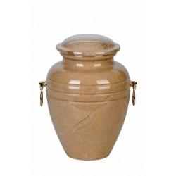 Stone Botticino Marble Funeral Cremation Ashes Urn for Adult (109)