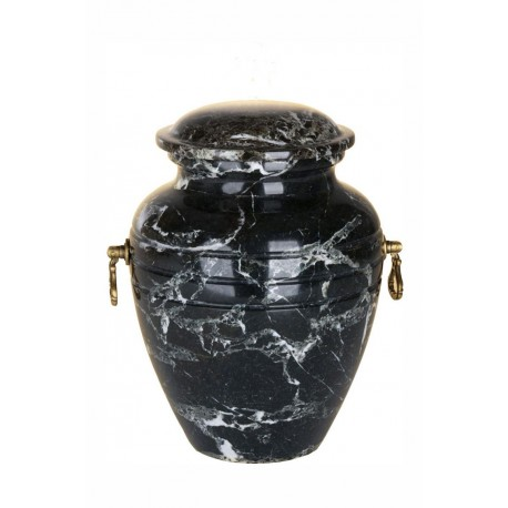 Stone Black Zebra Marble Funeral Cremation Ashes Urn for Adult (110)