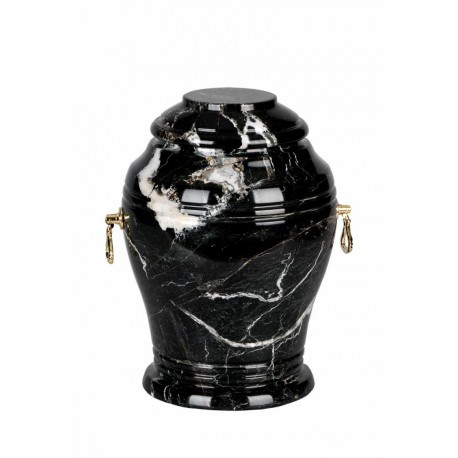 Stone Black Zebra Marble Funeral Cremation Ashes Urn for Adult (106)