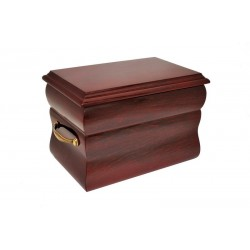 Mahogany Solid Wood Casket Funeral Cremation Ashes Urn for Adult (205)