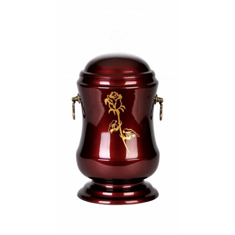 Burgundy Gloss Composite Funeral Cremation Ashes Urn for Adult (501)