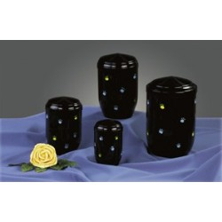Black Steel with Colorful Paw Funeral Cremation Ashes Urns for Pets (375)