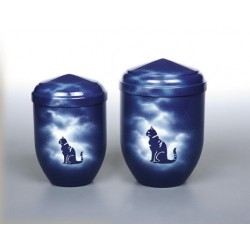 Blue Sky Copper with Cat Funeral Cremation Ashes Urns for Pets (376)