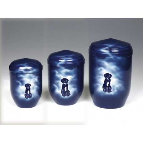 Blue Sky Copper with Dog Funeral Cremation Ashes Urns for Pets (377)