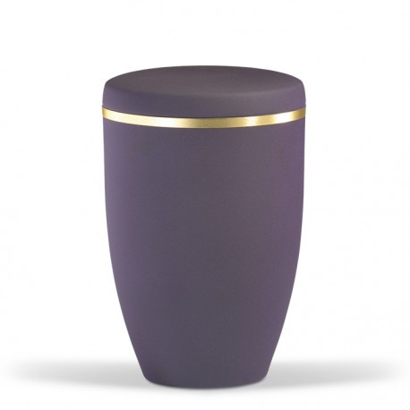Beautiful Violet Steel with Gold Band Funeral Cremation Ashes Urn for Adult (741)