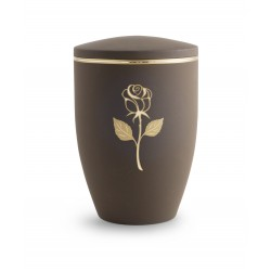 Beautiful Coffee Brown with Gold Rose Funeral Cremation Ashes Urn for Adult (751)