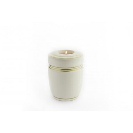 Mini Keepsake Milky White Ceramic Funeral Cremation Ashes Urn (832)