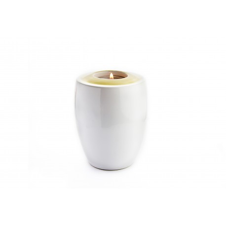 Mini Keepsake Milky White Ceramic Funeral Cremation Ashes Urn (834)