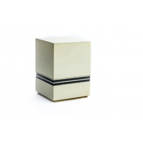 Mini Keepsake Beige Solid Wood Funeral Cremation Ashes Urn (836)