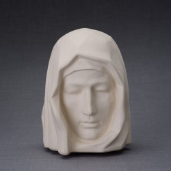 "Art Ceramic Cremation Ashes Urn for Adult – ""The Holy Mother "" – Unglazed (412)"