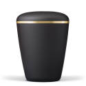 Anthracite Black Biodegradable with Gold Band Funeral Cremation Ashes Urn for Adult (603)