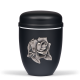 Black Steel with Big Silver Rose Emblem Funeral Cremation Ashes Urn for Adult (711)