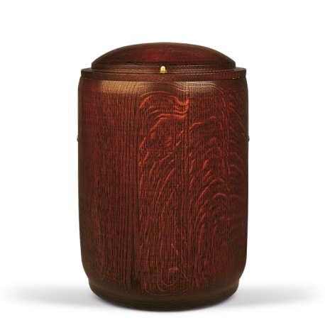 Solid Oak With Mohogany Stain Wood Funeral Cremation Ashes Urn for Adult (209)