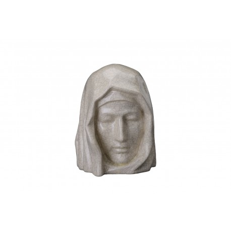 """Art Ceramic Cremation Ashes Urn for Adult – """"The Holy Mother """" – Craquelure (411)"""