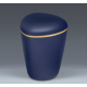 Sapphire Blue Biodegradable with Gold Band Funeral Cremation Ashes Urn for Adult (605)