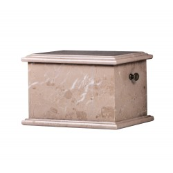 Stone Casket Botticino Marble Funeral Cremation Ashes Urn for Adult (101)