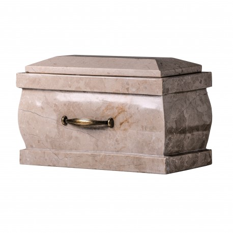 Stone Casket Botticino Marble Funeral Cremation Ashes Urn for Adult (117)