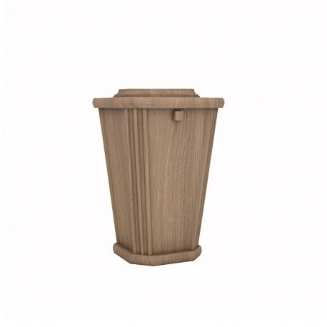 Oak Lantern Shape Wood Funeral Cremation Ashes Urn for Adult (225)