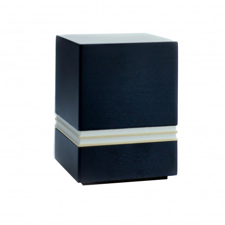 Mini Keepsake Black Solid Wood Funeral Cremation Ashes Urn (837)