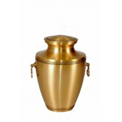 Gold Solid Brass Funeral Cremation Ashes Urn for Adult (306)