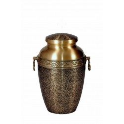 Gold and Black Solid Brass Funeral Cremation Ashes Urn for Adult (307)