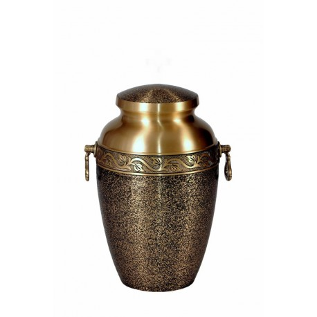 Gold and Black SolidBrass Funeral Cremation Ashes Urn for Adult (307)