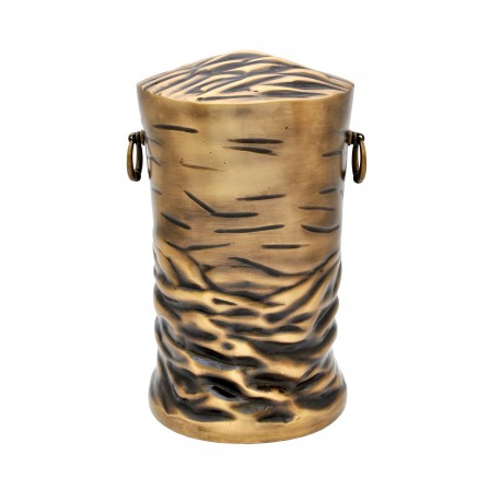 Tree Trunk Solid Brass Funeral Cremation Ashes Urn for Adult (309)