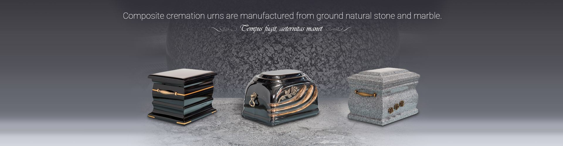 Composite cremation urns are manufactured from ground natural stone and marble