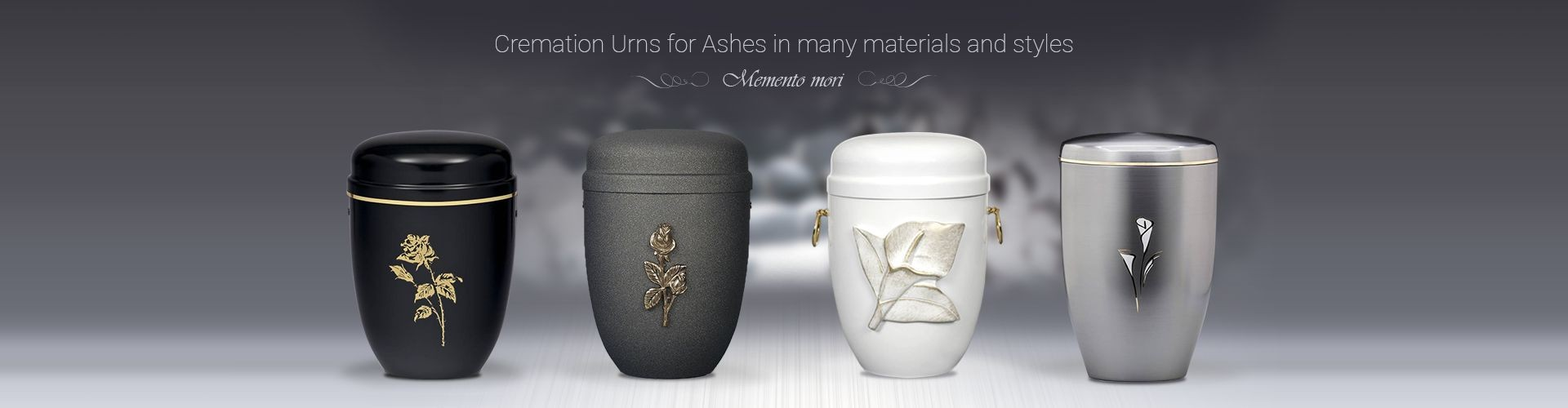Cremation Urns for Ashes in many materials and styles