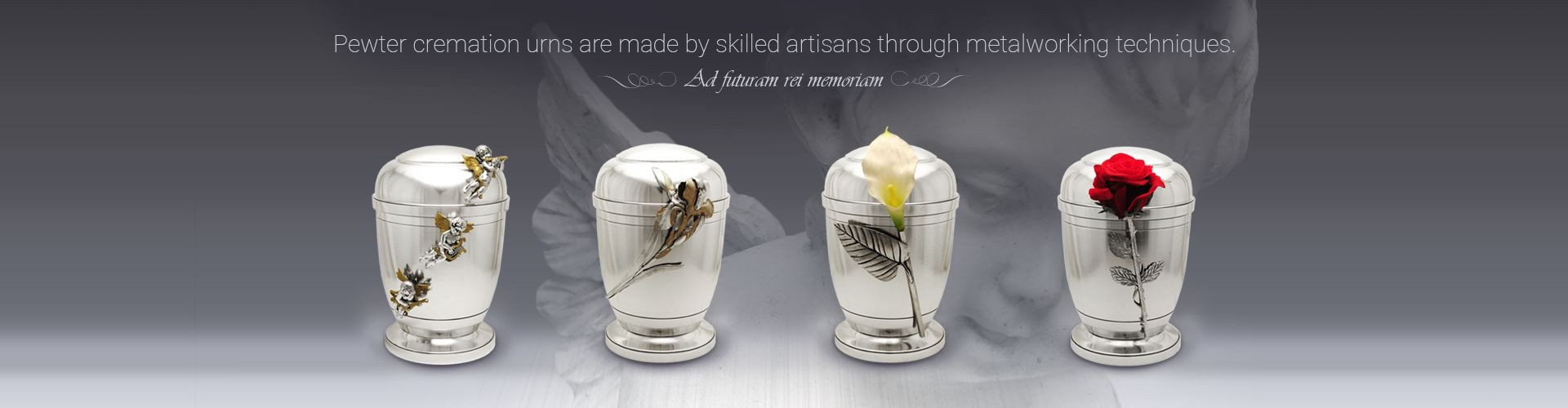 Pewter cremation urns are made by skilled artisans through metalworking techniques